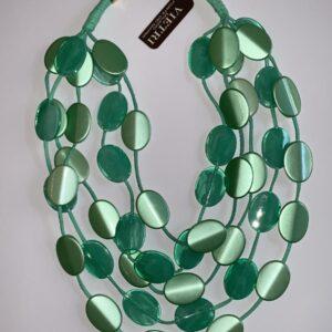 Collana girocollo verde smeraldo