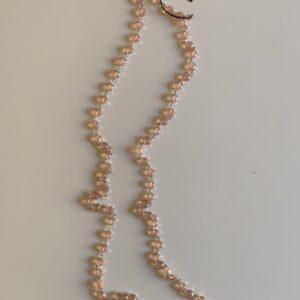 Collana sfere trasparenti rosa