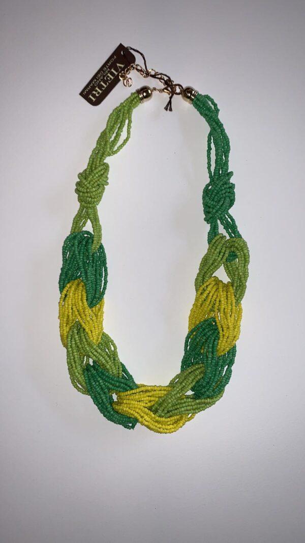 Collana stile corallo verde arcobaleno